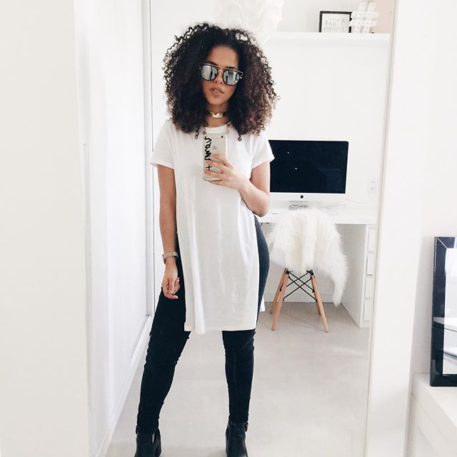 black jeans + camisão