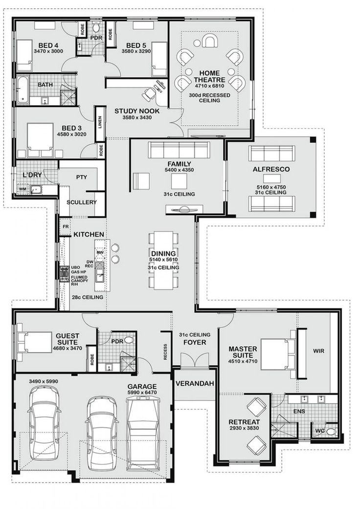 Floor Plan Friday: 5 bedroom entertainer