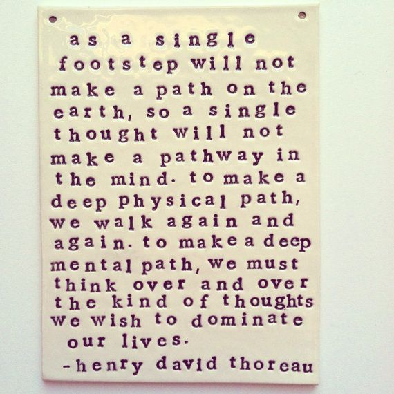 plaque henry david thoreau quote. MADE TO ORDER