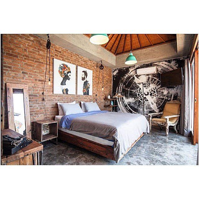 4 Quarters, villas, bedroom, art, Industrial Chic, Bali, Indonesia, Travel, Honeymoon, Holiday