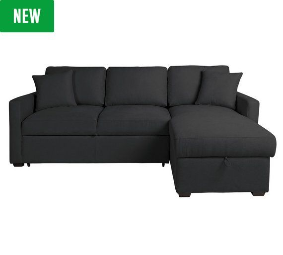 Buy HOME Reagan Fabric Right Corner Chaise Sofa Bed - Charcoal at Argos.co.uk, visit Argos.co.uk to shop online for Sofa beds, chairbeds and futons, Living room furniture, Home and garden