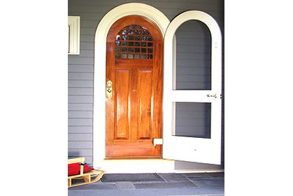 Custom Wood Arch Top Exterior Entry Door Arch Top Storm