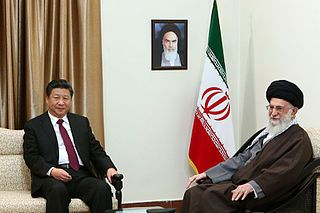 Ali Khamenei receives Xi Jinping in his house (6) Par Official website of Ali Khamenei, Supreme leader of Iran [CC BY 4.0 (http://creativecommons.org/licenses/by/4.0)], via Wikimedia Commons