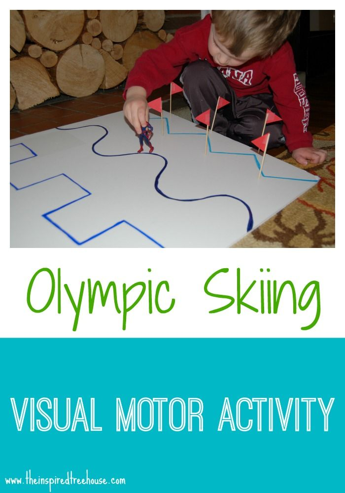 Olympic Skiing Visual Motor Game from The Inspired Treehouse