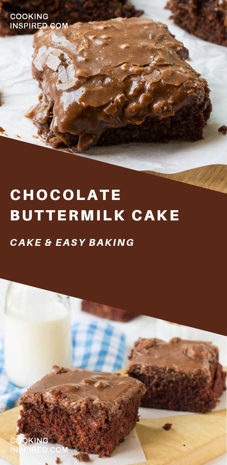 Chocolate Buttermilk Cake With Frosting Di 2020