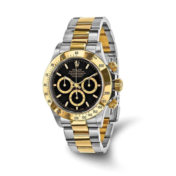 Refurbished Certified Pre-owned Mens Rolex Daytona 18k Yellow Gold and Steel Chronograph Watch
