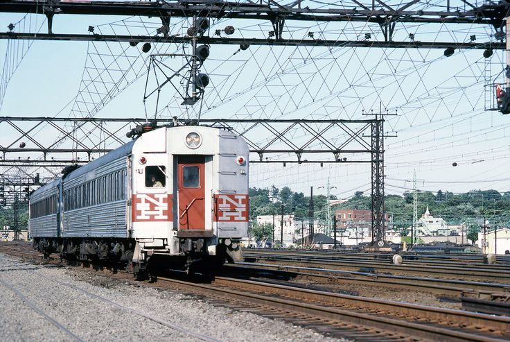 Metro North Railroad (former New Haven) washboard 4400 series electric MU cars in service on the mainline at, Stamford, Connecticut, August 1982 - 1 | by alcomike43