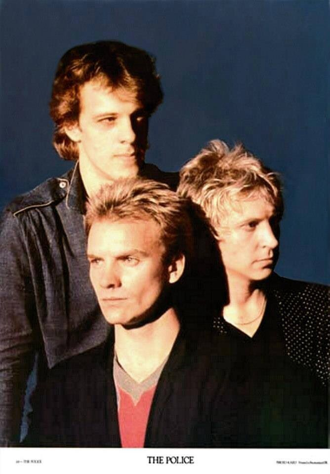 "The Police (1980) - from photo session for the cover of their third album ""Zenyatta Mondatta""."