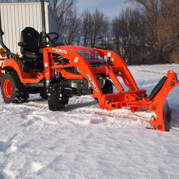 Kubota Bx Quick Attach Snow Plow Attachments Bxattachments Com Snow Plow Kubota Compact Tractor Attachments