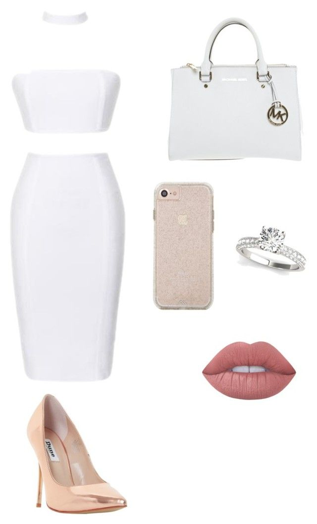 """Untitled #23"" by elizanico ❤ liked on Polyvore featuring Dune, Michael Kors and Lime Crime"