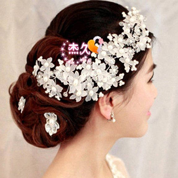 HITOP Exklusive Sonderanfertigungen Damen Griechisch süß elegant Die Braut heiratete langes Haar Ornamente Braut Kopfschmuck Haarschmuck Hea...