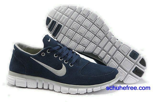 Damen Nike Free 3.0 V2 Anti -Pelz-Schuhe tiefblau WeiB