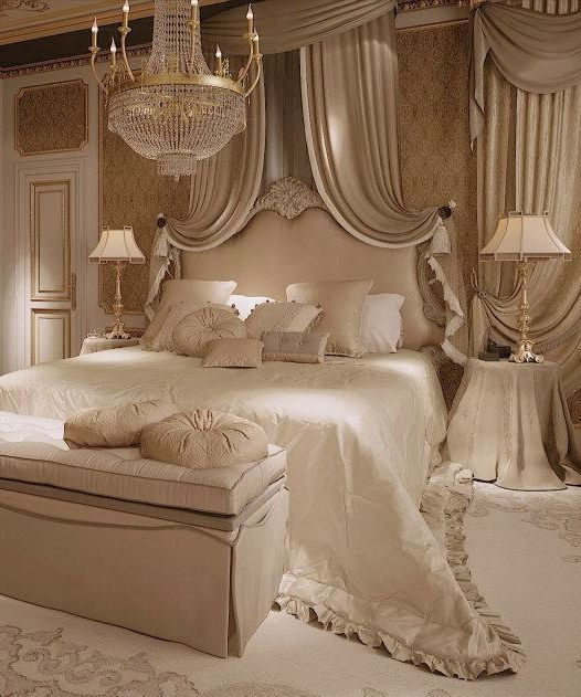 I think every bedroom should have a chandelier.