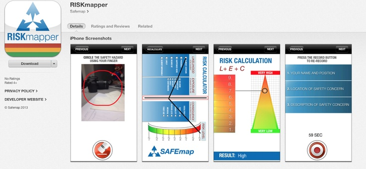 RISKmapper is  the ideal risk assessment tool for the workplace, including a risk calculator.