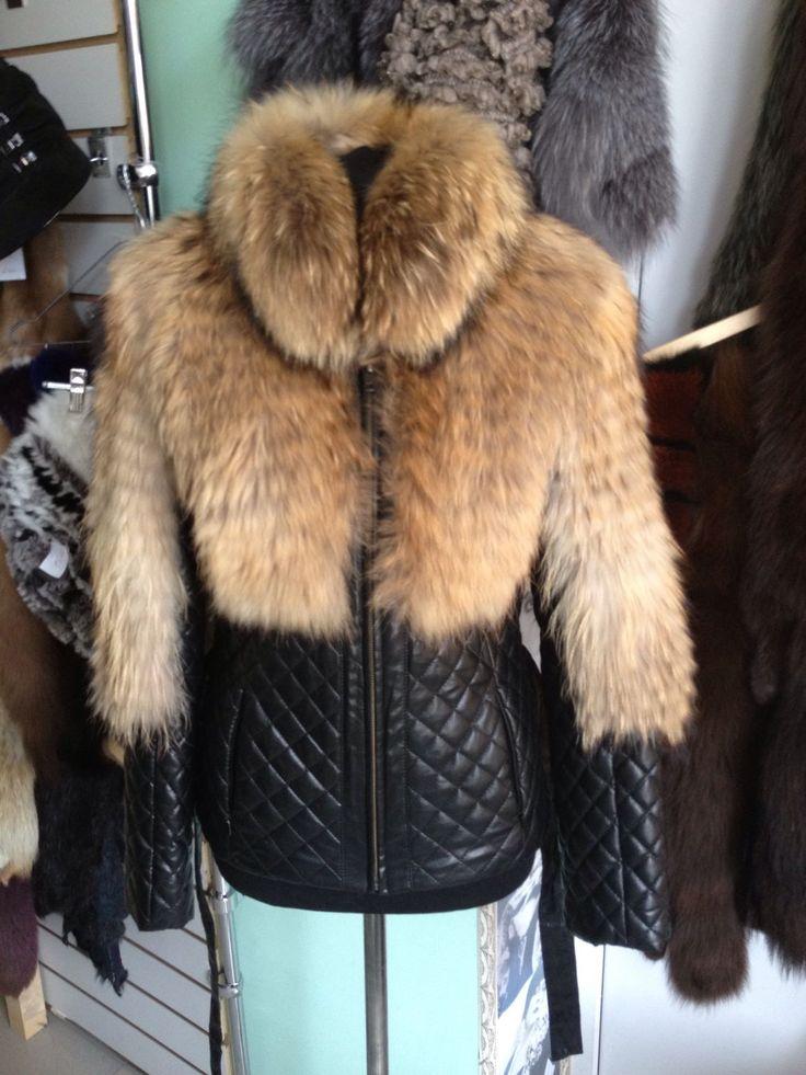 Купить Куртка с мехом енота - куртка, куртка меховая, мех енота, кожа натуральная
