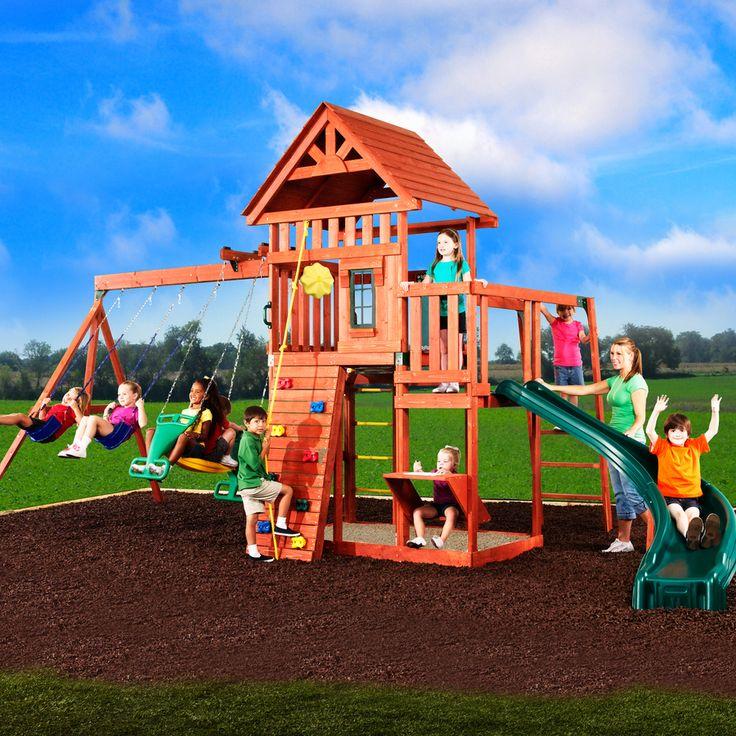 backyard wood swing sets lowes 2