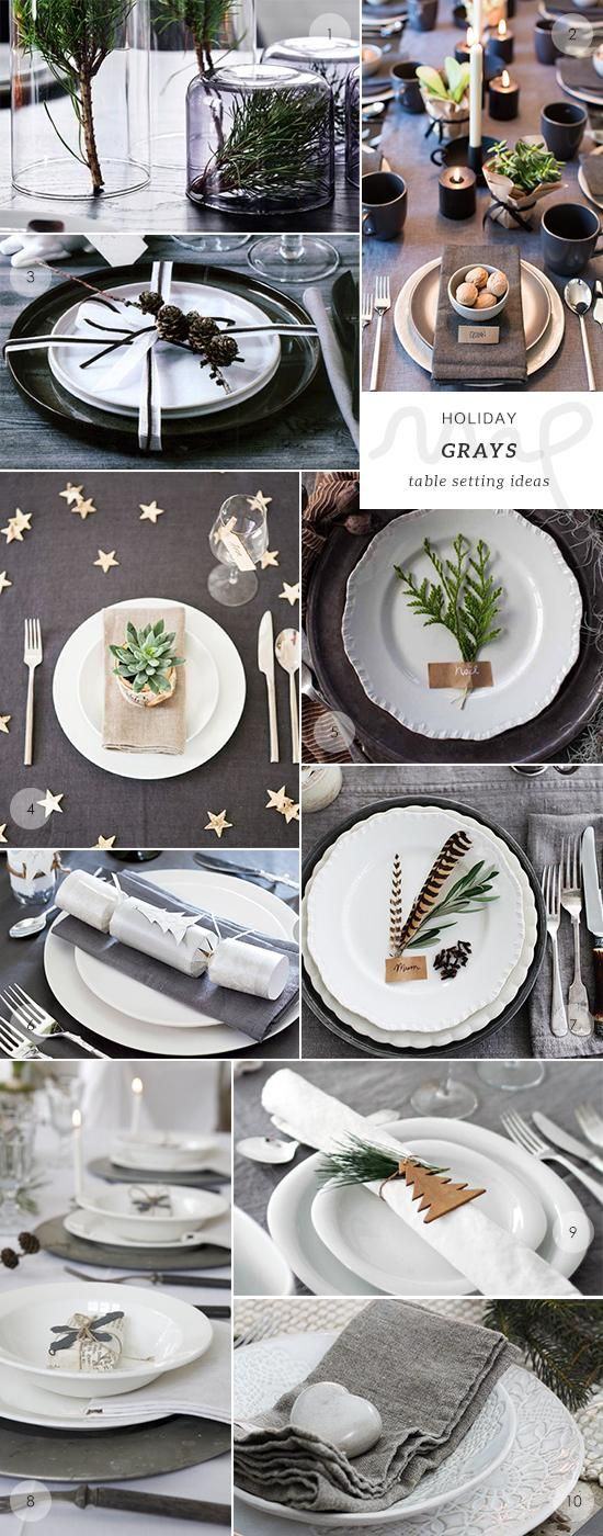 The grays table setting is part of 50 Christmas and New Year's table setting ideas chosen by My Paradissi