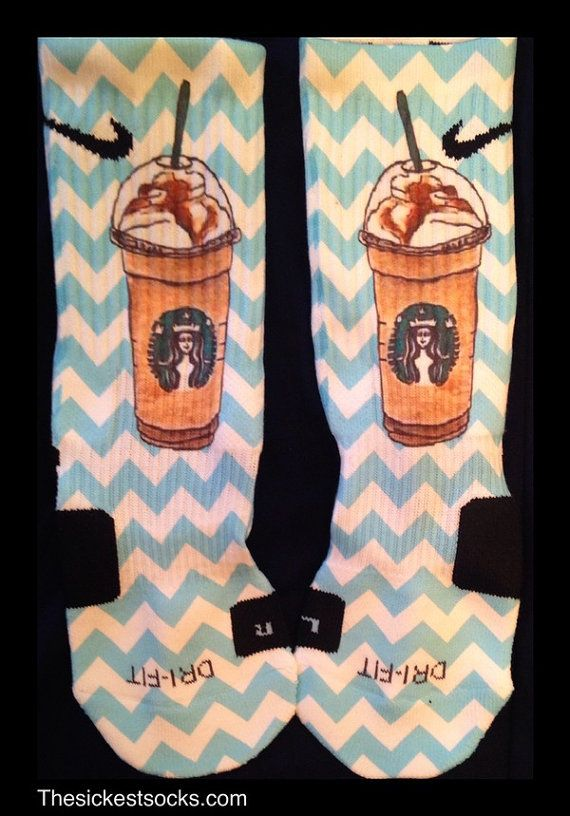 Starbucks Inspired Custom Nike Elite Socks by InWestCoastCreations