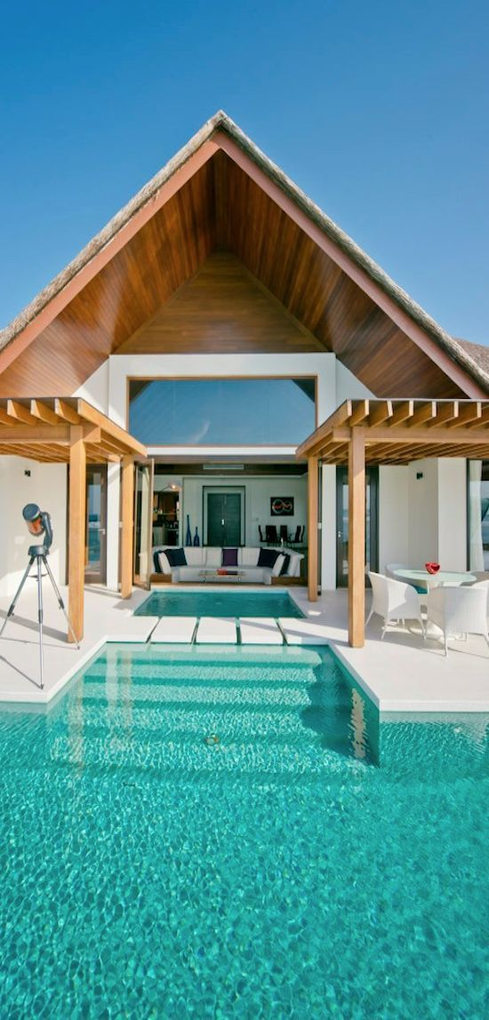 Niyama, Maldives. This edgy, modern resort balances tranquility with a sense of discovery and fun. Hosting international DJs sets and only accessible by boat, its underwater club, Subsix lets you live it up with all night dancing beneath the waves.