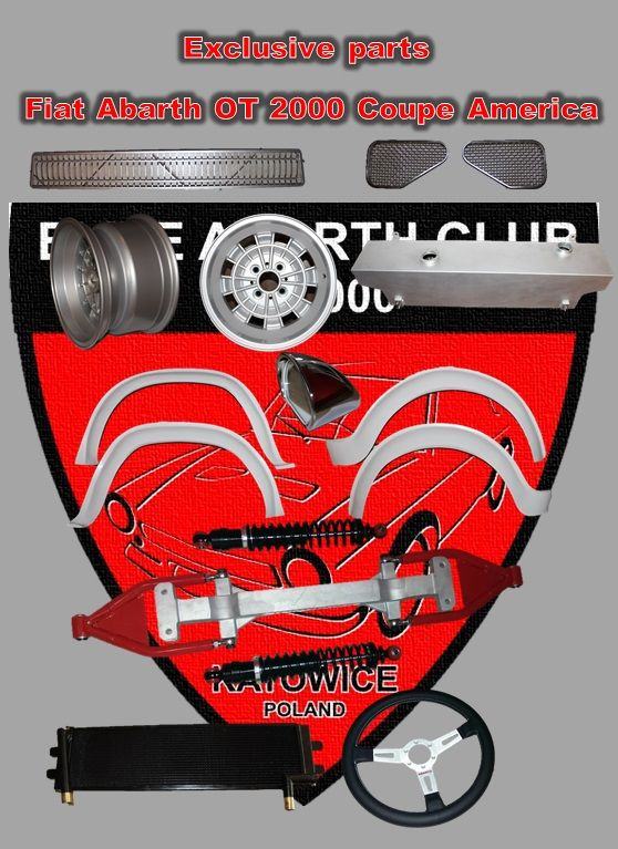 Exclusive parts to Abarth OT 2000 coupe