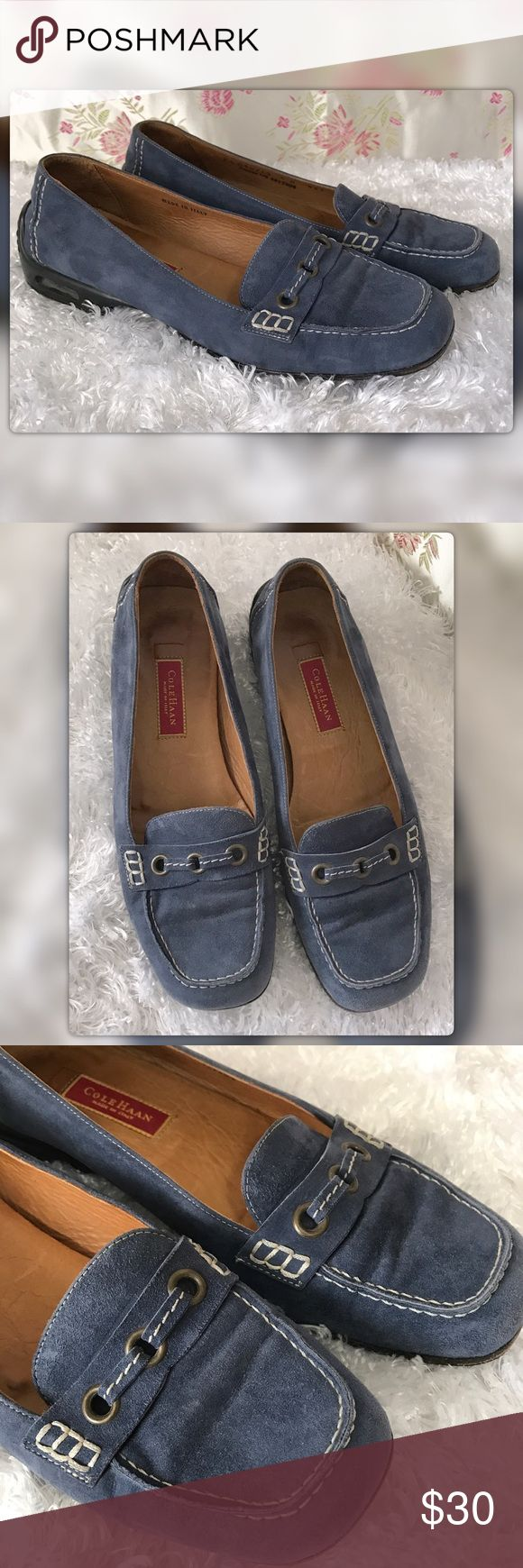 Cole Hann 6B Blue Suede Driving Moccasins Cole Hann 6B Blue Suede Driving Moccasins. Made in Italy. Gently used with no flaws Cole Haan Shoes Flats & Loafers
