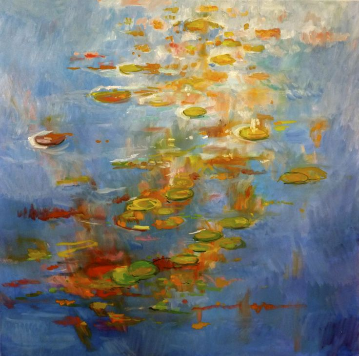 Just waterlilies 75 x 75 cm  oil/linen
