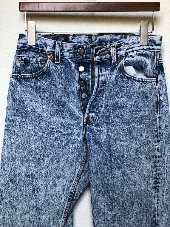 1b056027375 Vintage Levi's 501 acid washed jeans 27x31, button fly, 80s Levi jeans  1980s metal, acid wash denim, 90s Levi's 1990s grunge vtg, waist 27