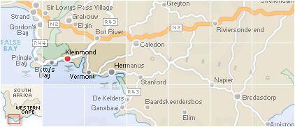 Kleinmond Search by Map