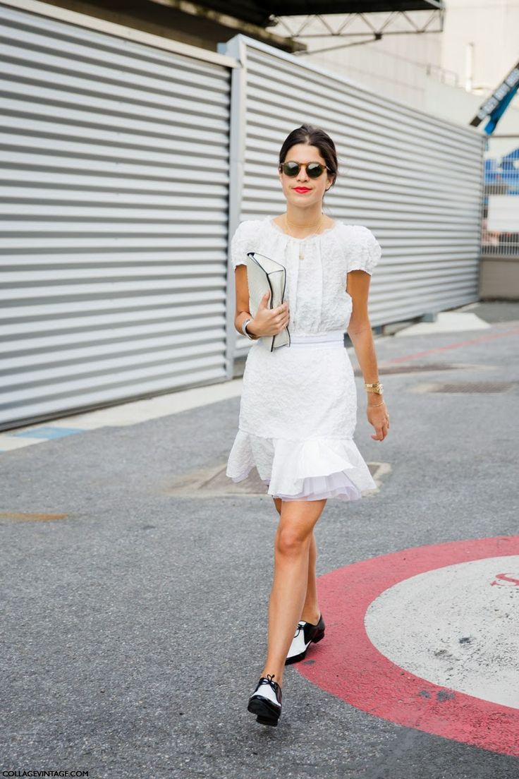 Leandra Medine during Paris Fashion Week SS 2014