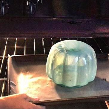 Here's why you should be baking your glass pumpkin jars in the oven