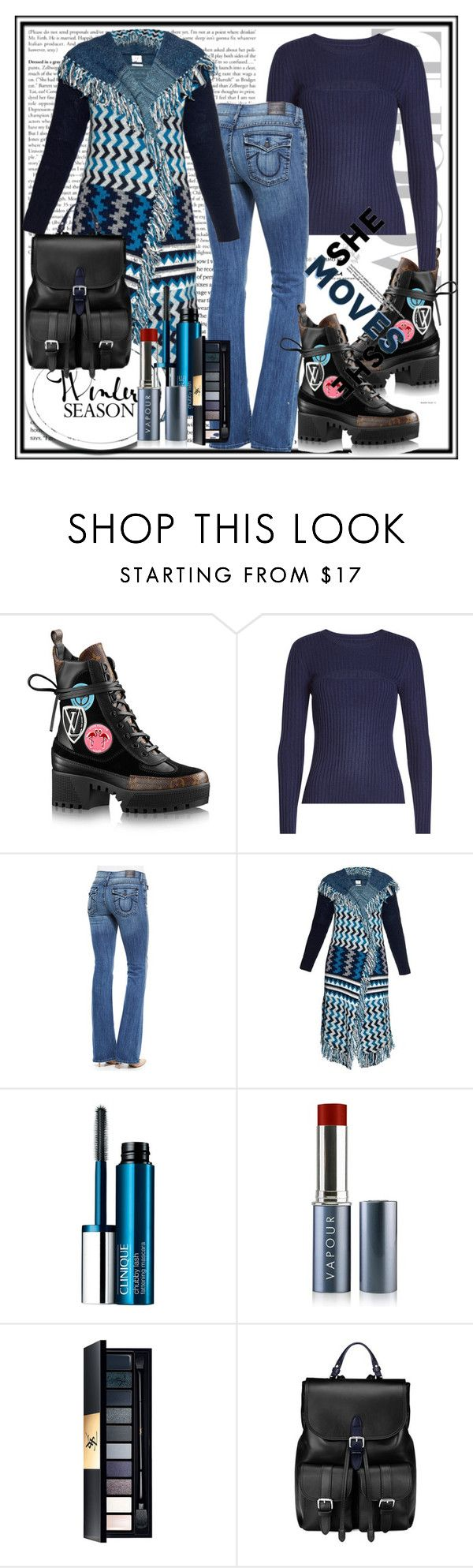"""Hooded Cardigan"" by stars-5 ❤ liked on Polyvore featuring Frame, True Religion, Banjo & Matilda, Clinique, Vapour Organic Beauty and Aspinal of London"