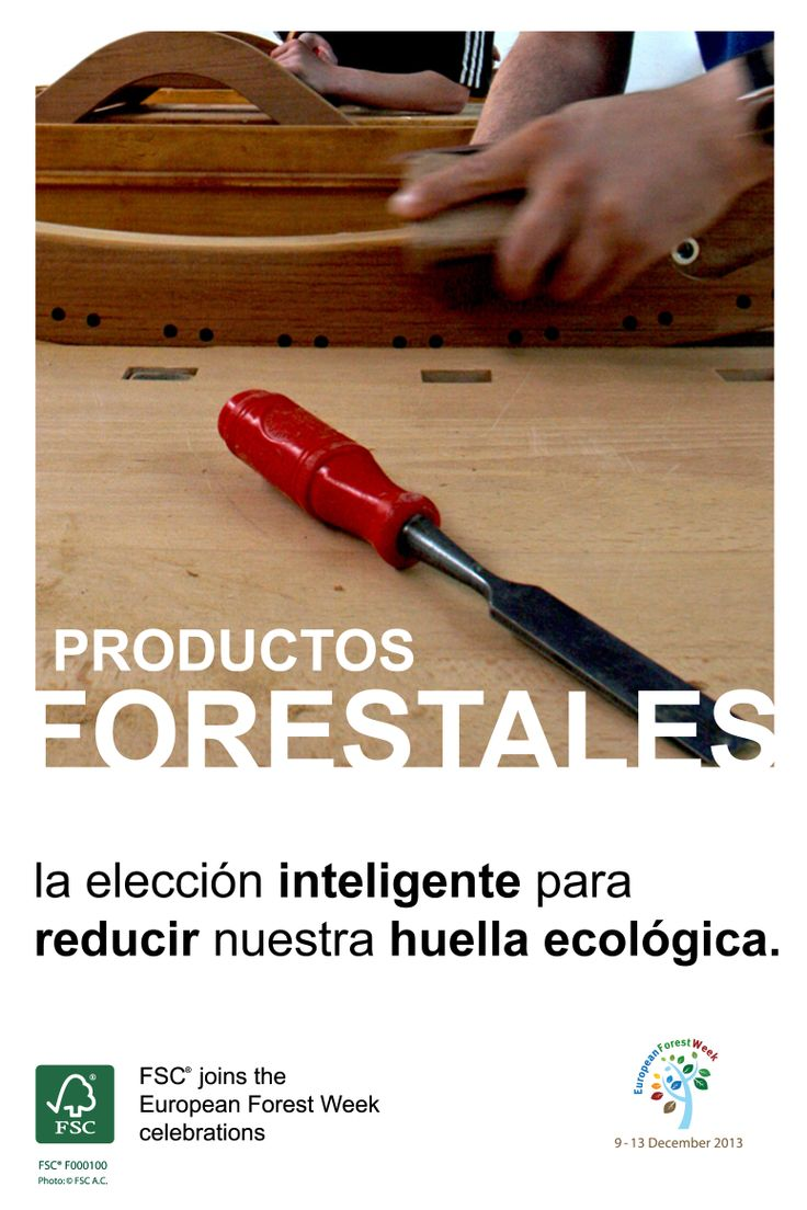 Productos Forestales – La elección inteligente para reducir nuestra huella ecológica.