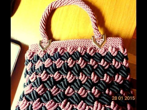 How to: crochet handle of bags - YouTube