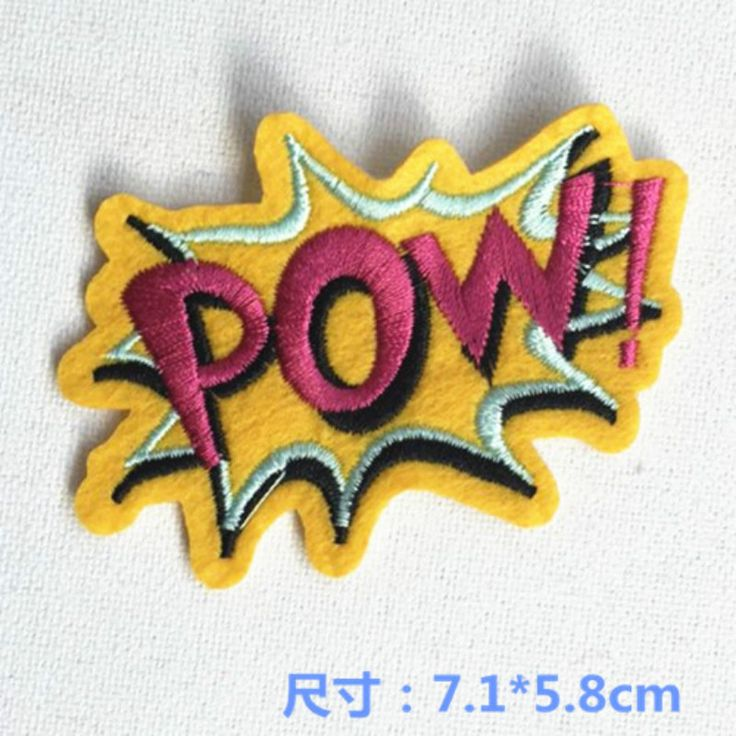 Free Shipping~11 pcs/lot Wholesale Embroidered  POW  Iron  On or Sew On Patches Applique Badges