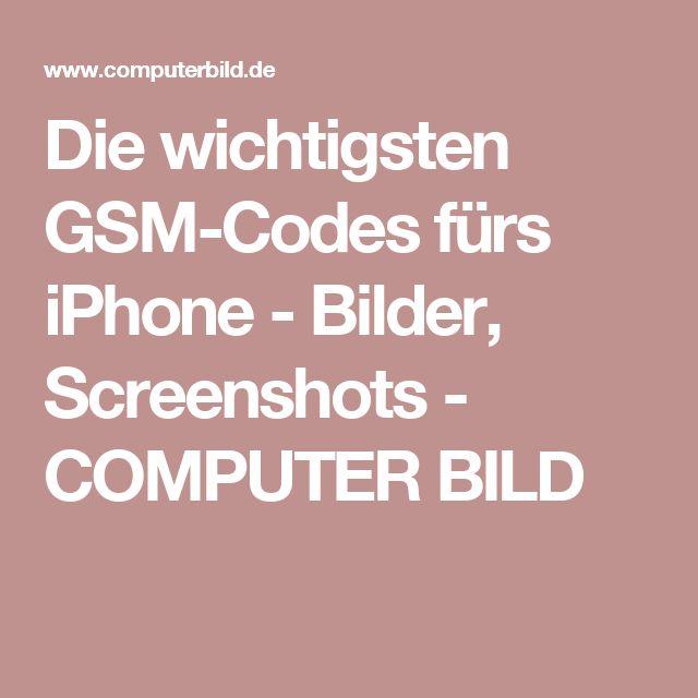 Die wichtigsten GSM-Codes fürs iPhone - Bilder, Screenshots - COMPUTER BILD