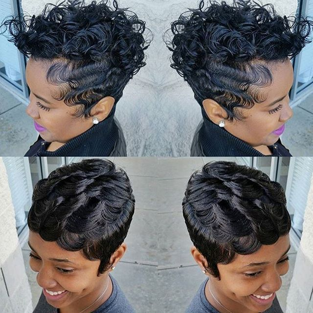 Awe Inspiring 1000 Images About Cute Styles Fingerwaves Amp Soft Curls On Short Hairstyles For Black Women Fulllsitofus