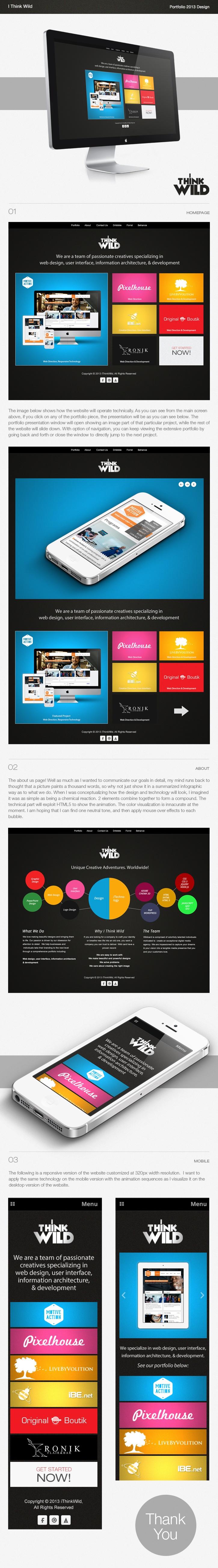 I Think Wild Portfolio Redesign 2013