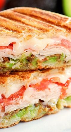 Turkey, Bacon, and Avocado Panini