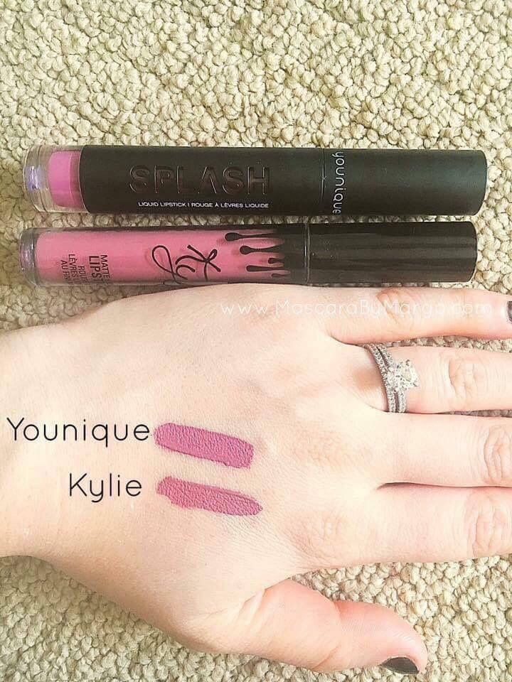 I'm sure you all know all about that Kylie Jenner lippie right?  Well step over kylie as Younique has a new matte lipstick in town   Kylie's color is: posie k. Younique color is: sentimental    With Younique you Buy 3 at a discounted price AND you get a lip exfoliater free!  ❤️