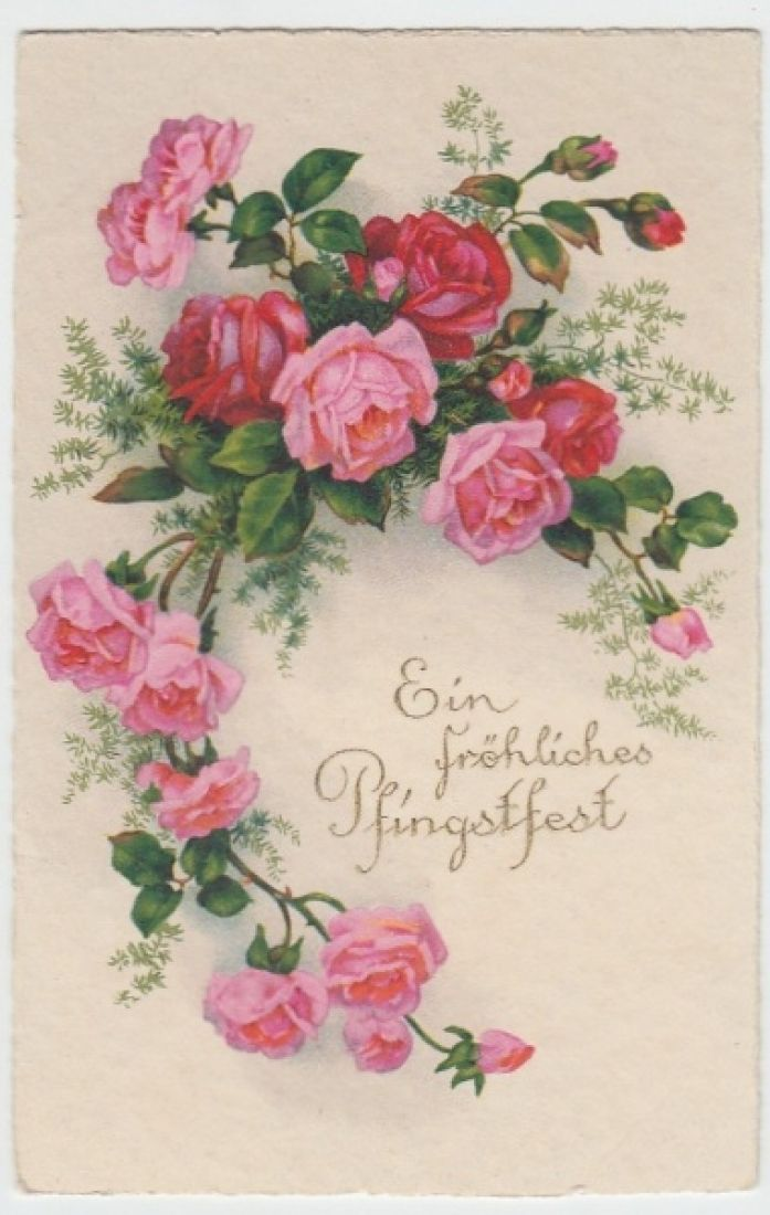 (12521) AK Pfingsten, Rosen, vor 1945 | eBay