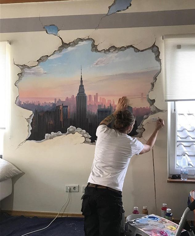 Die 25+ Besten Ideen Zu Skyline Von New York Auf Pinterest ... Jugendzimmer Im New York Stil