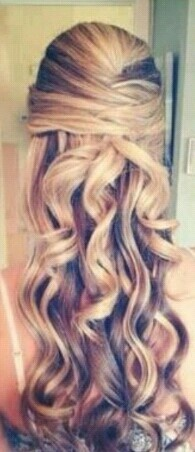 Perfect half up-do for prom!