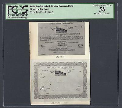 Ethiopia - Imperial Ethiopian Premium Bond 30 Dollars 1961 Photographic Proof