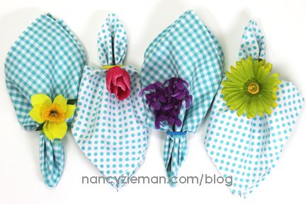 How to easily sew mitered napkins by Nancy Zieman | Sew Simple with Rectangles and Squares