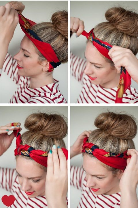 tuto foulard cheveux