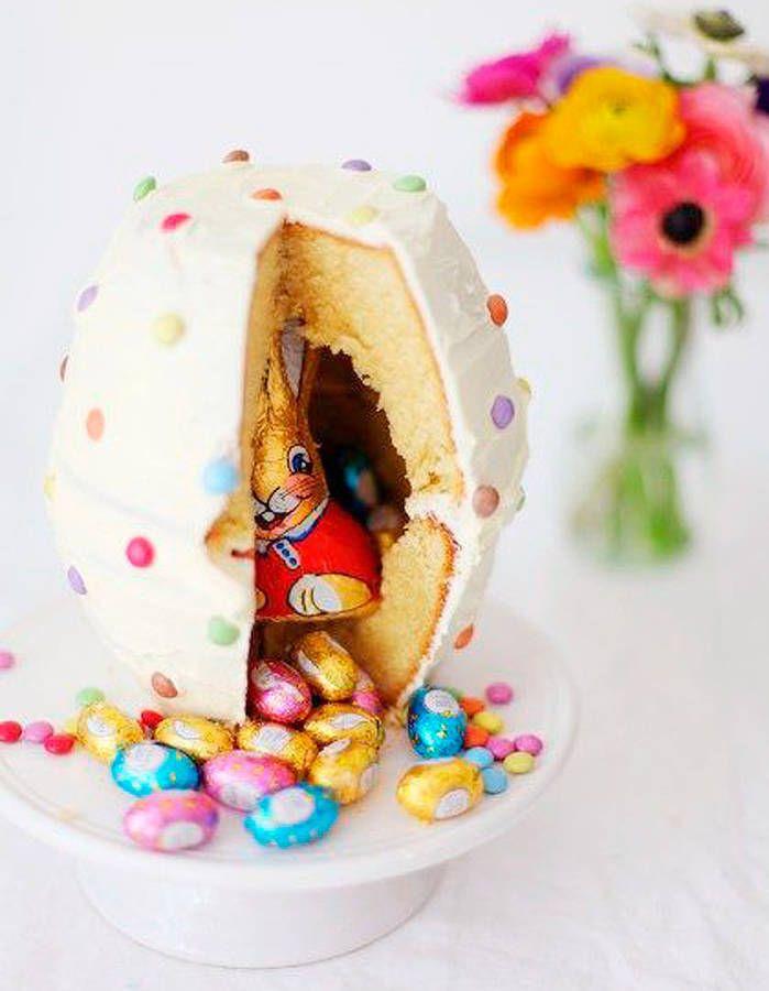 Piñata cake de Pâques