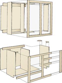 Wooden iKitcheni iCabinetsi iBuildingi Plans DIY blueprints