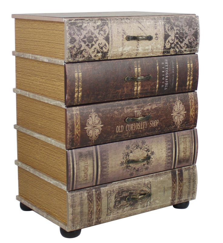 Around The World Vintage Books Drawers