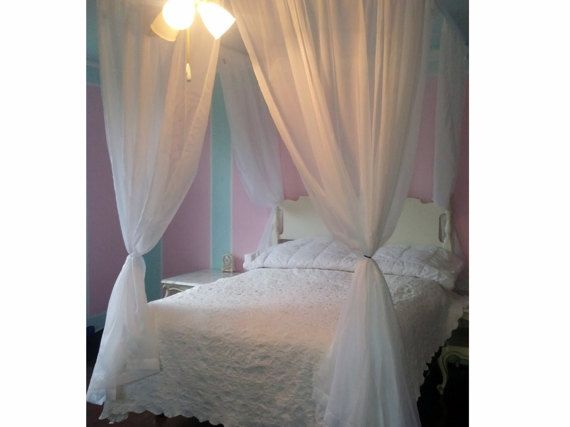 Canopy Bedroom Curtains: Custom Princess Voile Bed Canopy