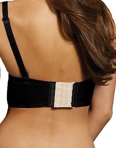 """Skip the maternity boutique and pick up a few """"bra-back extenders"""" at your local craft store. Great idea!"""